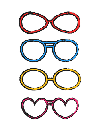 fancy: Rough Colored Fancy Goggles Frames Illustration