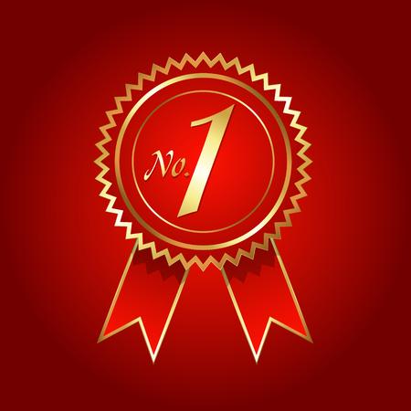 no 1: No. 1 Rosette Vector