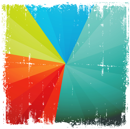 Grunge Colorful Sunburst Background