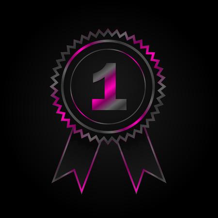 no 1: No. 1 Ribbon Badge Vector