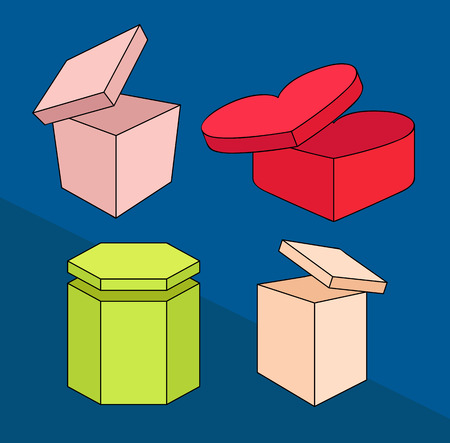 occasions: Variety of Gift Boxes for Occasions Illustration