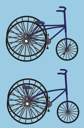 cycles: Vintage Fancy Circus Cycles Illustration