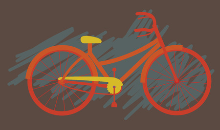 simple: Simple Ladies Cycle Vector Illustration