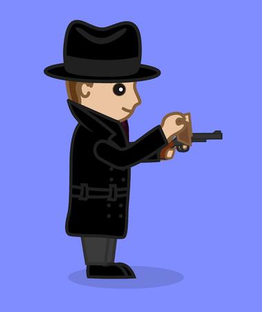FBI Agent Showing ID and Gun