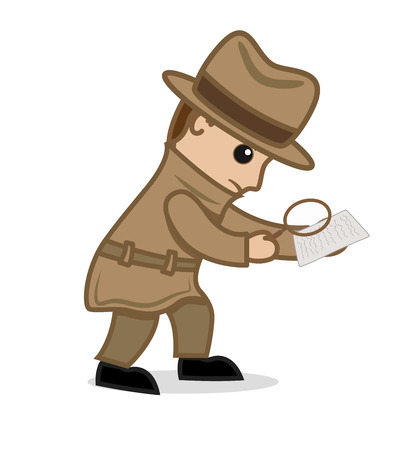 Detective Agent Investigating the Clue