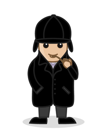 Cartoon Detective Smoking