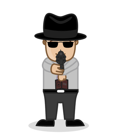 CI Agent Targeting the Criminal Illustration