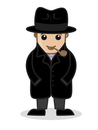 Private Detective Agent Illustration