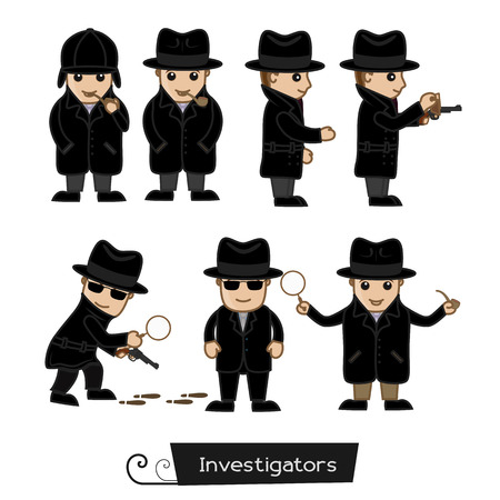 ci: Detective Agents Various Action and Poses