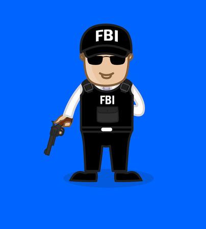 the fbi: FBI Agent with Gun