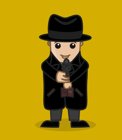 criminal: Detective Agent Targeting the Criminal Illustration