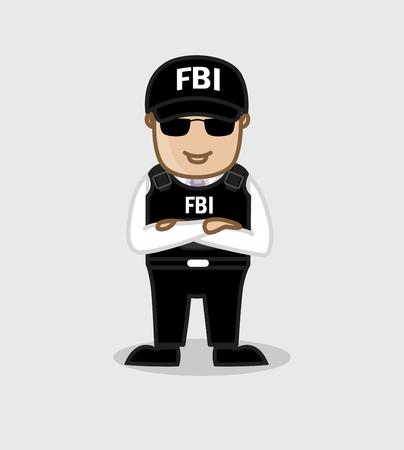 FBI Agent Standing Pose