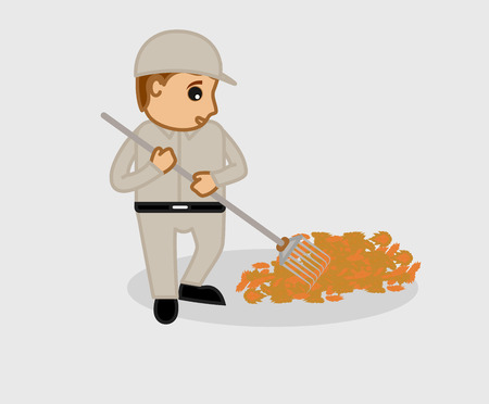 sweeper: Street Sweeper Cleaning Leaves