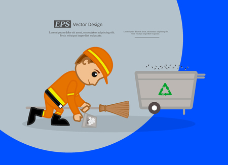 sweeper: A Sweeper Cleaning Dust and Throwing in Recycle Bin