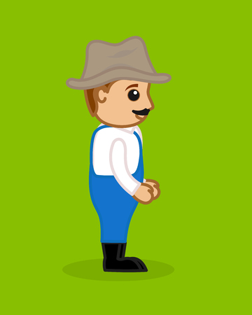 villager: Cowboy Character Side Pose