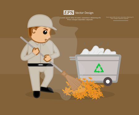 sweeper: Irritated Street Sweeper Cleaning Dirt