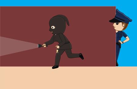 Police Following a Thief