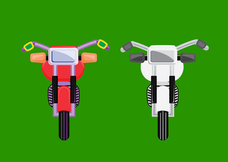 old fashioned: Old Fashioned Motorbikes Vector