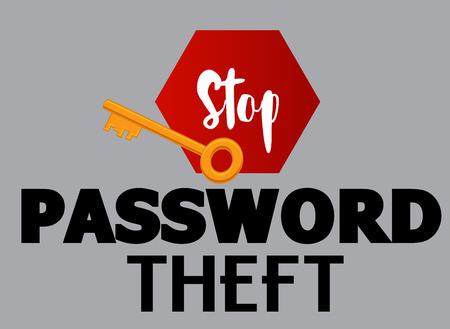 Mot de passe Theft Vecteur Bannière Banque d'images - 64116969