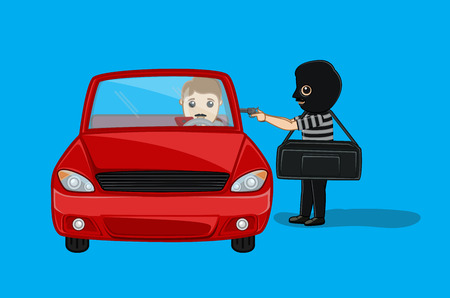 Robber Asking for Car