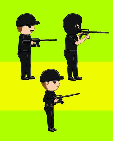 commando: Commando and Masked Agent with Guns