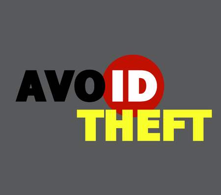 id theft: Avoid ID Theft Message Vector Banner