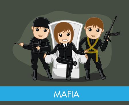 balaclava: Female Mafia Gang Character
