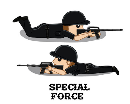 commando: Special Force Commando Characters Illustration