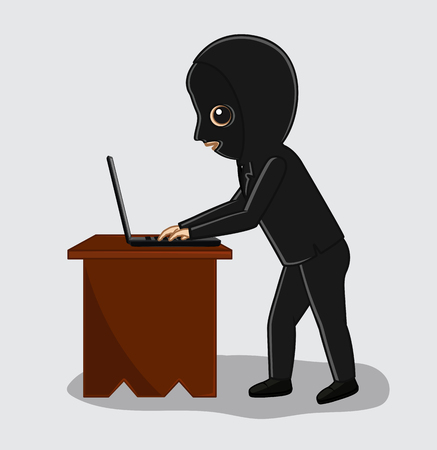 confidential: Hacker Trying to Hack Confidential Laptop