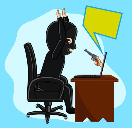 Hacker Arrested Vektorové ilustrace