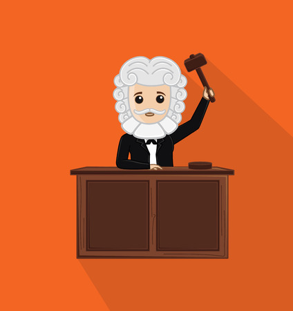 judgement day: Judge Holding a Hammer