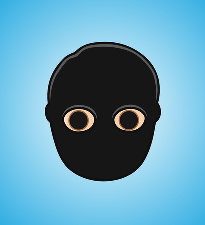 black mask: Robber Face with Black Mask