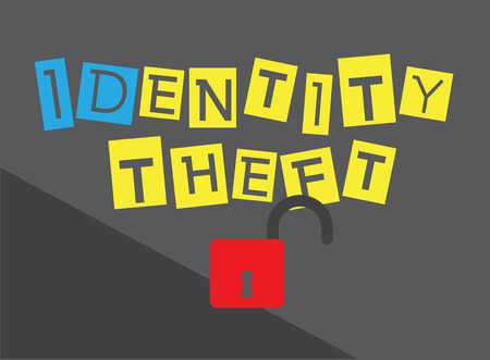 identity theft: Protect Your Identity from Theft Vector Concept