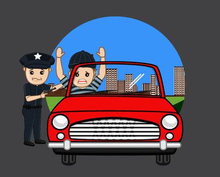 Police Arrested a Car Thief