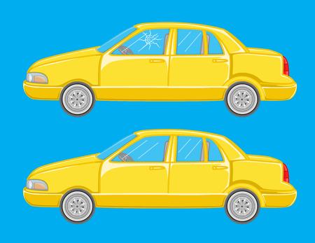 smash: Car Crash Vector Illustration