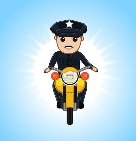 pursue: Policeman on Bike