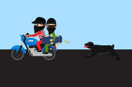 Dog Following Robbers Bike