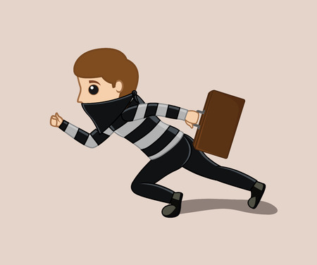 Convict Running with Suitcase