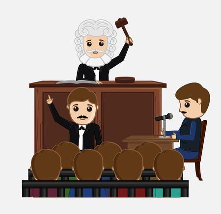 courtroom: Judge Striking on Desk in Courtroom