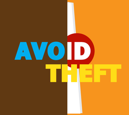 theft: Avoid ID Theft Message Banner