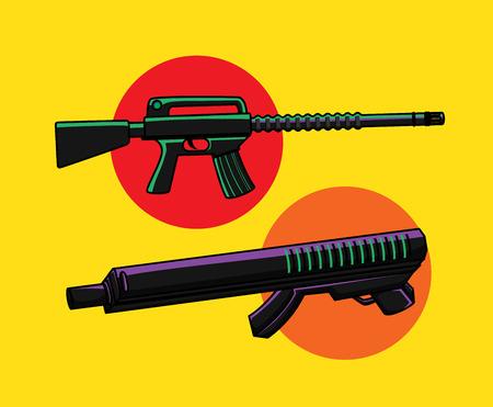 Carbine Guns Vector