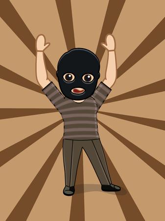 atrapar: Coger el concepto de ladrón