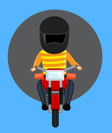 Robber on Bike with Helmet