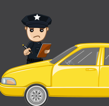 traffic violation: Meter Maid Concept