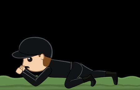 commando: Commando Officer Crawling