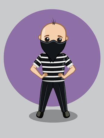 Masked Burglar Character