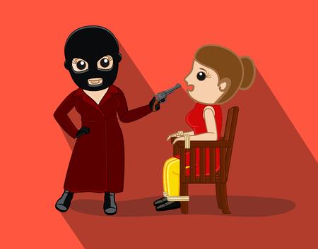 Female Kidnaper Capture a Lady