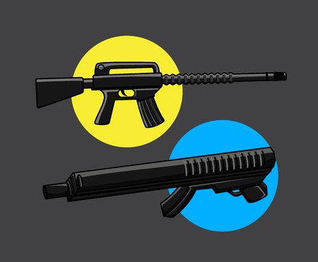 gunsight: Machine Guns Vector