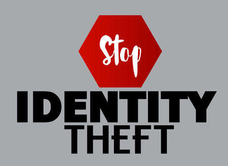 theft: Stop Identity Theft Vector Concept Illustration