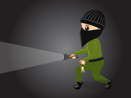 thug: Thief with Torch Illustration